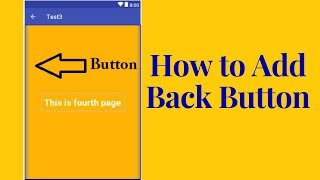 How to Add back button in action bar in android studio