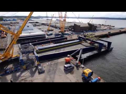 Dismantling of RORO Linkspan Structure at Rosyth Ferry Terminal HD