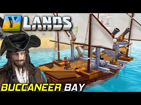 Buccaneer Bay and Pirate Ships + Bases | YLands Gameplay EP2