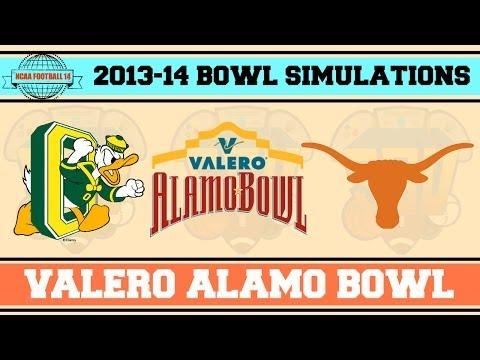 Valero Alamo Bowl (Oregon vs Texas) NCAA Football 14