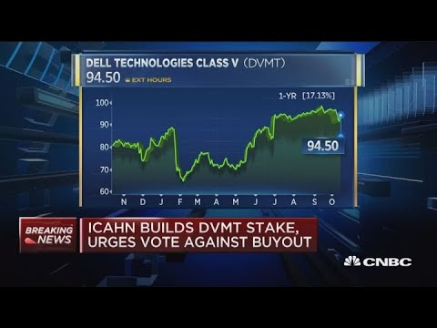 Carl Icahn now owns 8.3 percent of Dell Technologies shares