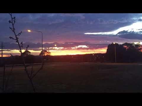 Sun Rise over Weston Creek, Canberra
