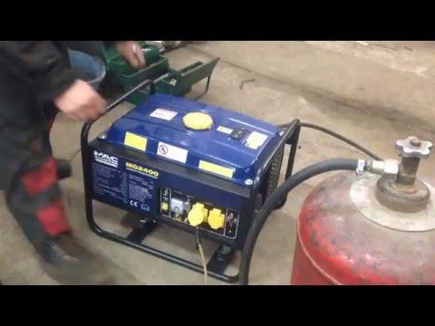 Перевод бензогенератора на газ своими руками