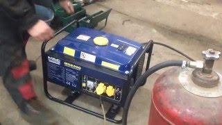 Перевод бензинового генератора на газ пропан-бутан