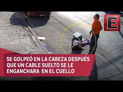Niña en Puebla casi muere degollada por cable telefónico