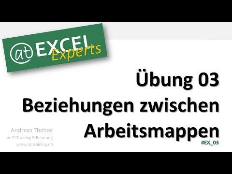 Beziehungen zwischen Arbeitsmappen prüfen - Übung 03 - at Excel Experts