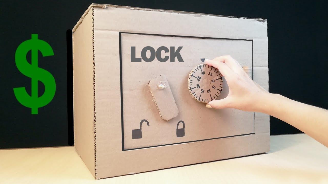 como hacer una caja fuerte con combinaciones