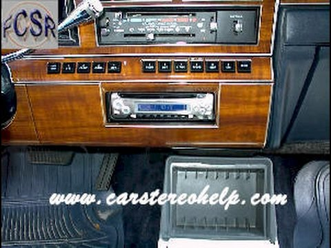 Lincoln Town Car Aftermarket Radio Installation - YouTube