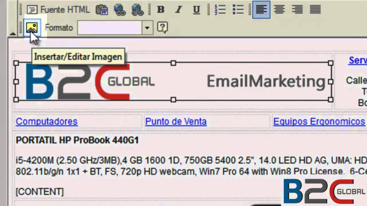 Haciendo Email Marketing - Modificando una plantilla - YouTube