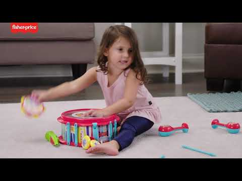 Fisher-Price™ Rainforest Musical Band Drum Set Musical Toy