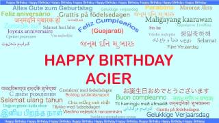 Acier   Languages Idiomas - Happy Birthday