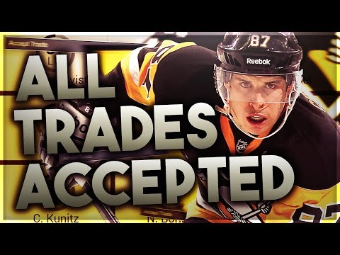 ACCEPTING ALL TRADES WITH THE PITTSBURGH PENGUINS! (NHL 18 FRANCHISE MODE CHALLENGE)