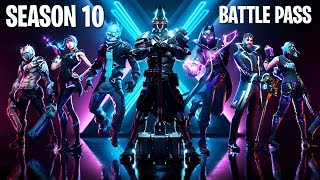 *NEW* SEASON 10 BATTLE PASS SKINS!! (Fortnite Season X New Update)