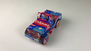 An Amazing Car Jeep Making from Toothpaste box