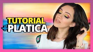 QUERIA UN MAQUILLAJE COLORIDO: ME AVENTE MIL COLORES ENCIMA!: TUTO + PLATICA!