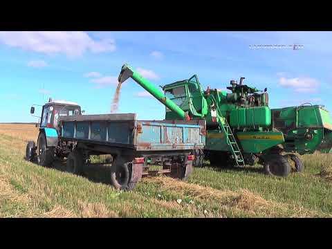 Уборка зерновых в районе