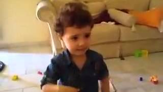 Funny Syrian little girl