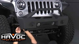How to Install Havoc Metal Masher with Bull Bar on Jeep JK at HavocOffroad.com