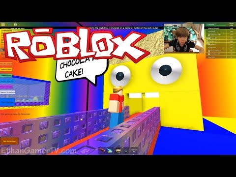 Let's play ROBLOX! Make a Cake and Feed the Giant Noob