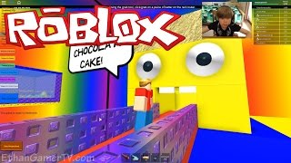 Make a Cake and Feed the Giant Noob | ROBLOX
