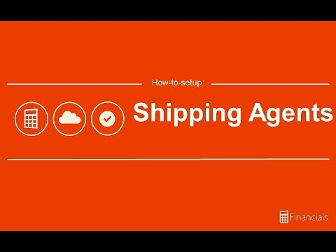 How to setup a Shipping Agent