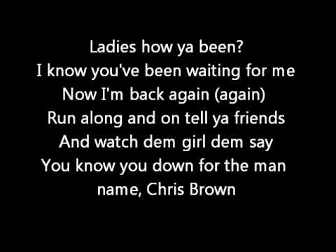 Chris Brown FT KMAC - Twitter  (Lyrics on screen) karaoke In My Zone