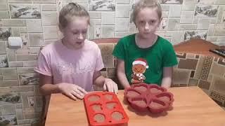 """Кулинарные фантазии от Полины и Ульяны, готовим сами """"Шоколадные кексы""""."""