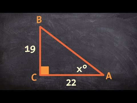 How to apply the inverse of tangent to find the missing values of your triangle