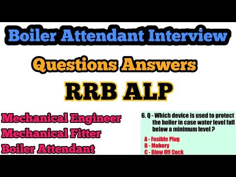 Boiler Attendant Interview Questions Answers In Hindi RRB ALP Questions