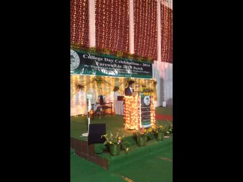 Farewell Speech J N Medical College, A.M.U - 2014 (Boy Orator)