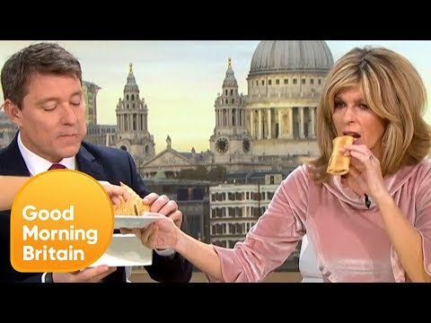 GMB Try the Greggs Vegan Sausage Roll | Good Morning Britain