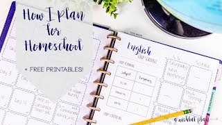 How I Plan for Homeschool + FREE PRINTABLES | A Wishful Plan