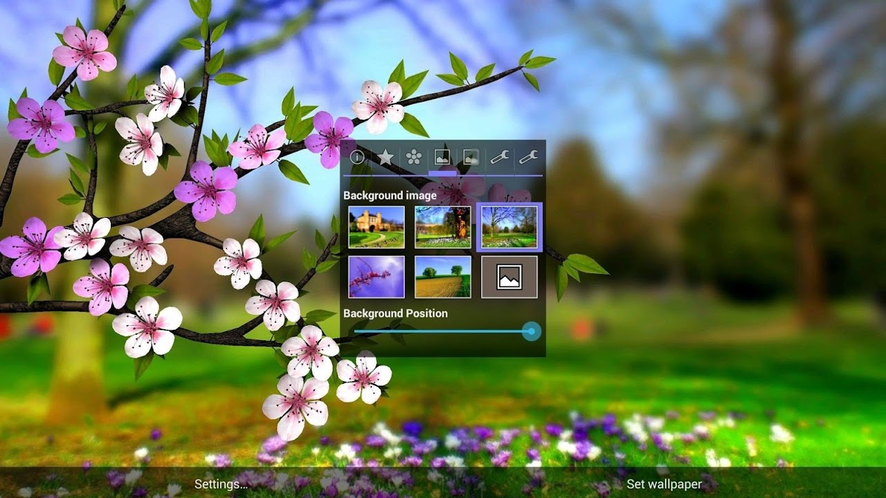 Spring Flowers 3d Parallax Hd Awesome একট Live Wallpaper