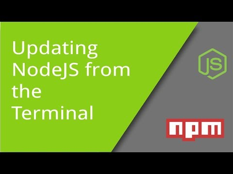 Updating NodeJS from the Terminal