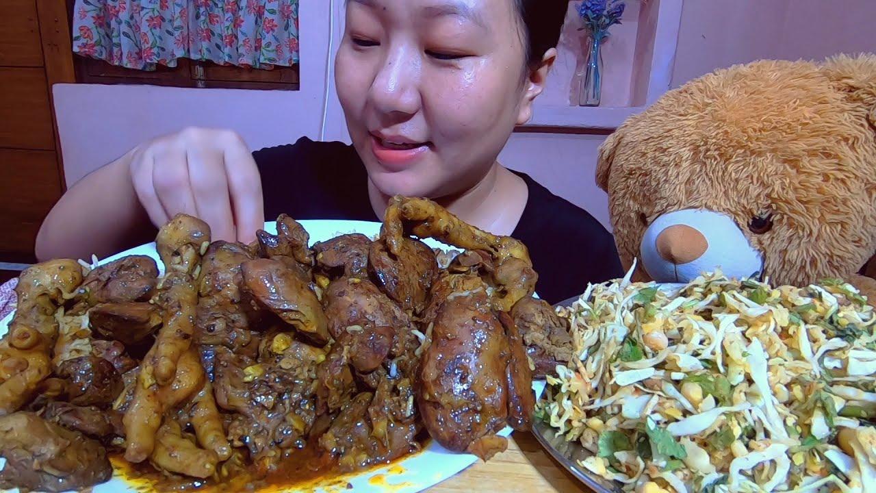 Singju, Chicken Liver And Chicken Feet Curry Mukbang