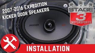 2007-2016 Expedition Kicker KSC68 6x8 Door Speaker Upgrade Kit Install