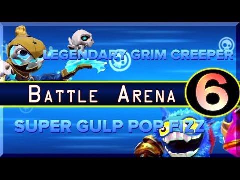skylanders-swap-force-legendary-grim-creeper-vs-super-gulp-pop-fizz-battle-arena-#-6-[hd]