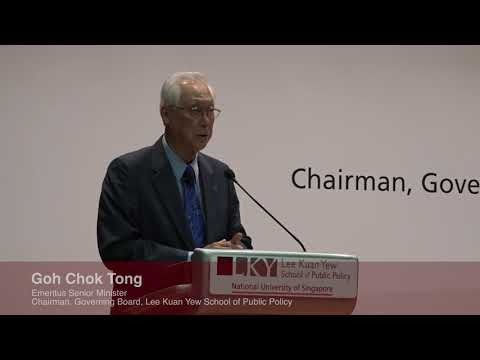 LKYSPP 13th Anniversary Dialogue with Emeritus Senior Minister Goh Chok Tong