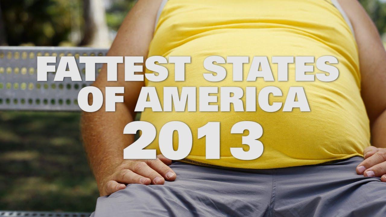 Top 10 Fattest States In America 2013