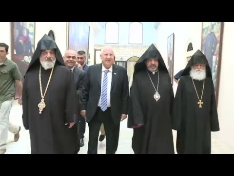 President Rivlin visits Jerusalem Armenian Patriarch, meets Christian leaders