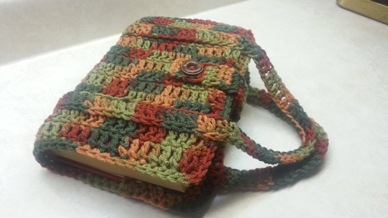 Bible Book Cover Pattern ~ Crochet how to book bag bible carrier