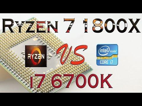 RYZEN 7 1800X Vs I7 6700K - BENCHMARKS / GAMING TESTS REVIEW AND COMPARISON / Ryzen Vs Skylake