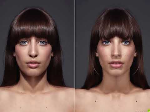Если бы лица были  идеально- симметричными..........
