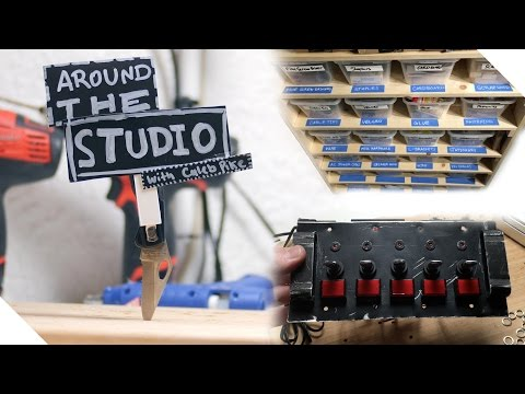 Around The Studio #1: Gear Storage Boxes, DIY Control Panel And Baby?