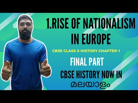 CLASS 10 HISTORY- RISE OF NATIONALISM IN EUROPE LAST PART IN MALAYALAM