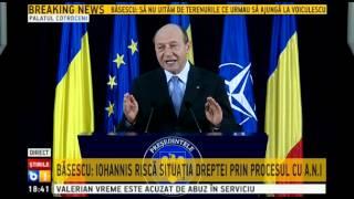 Traian Basescu lanseaza atacuri dure la adresa lui Ponta si Iohannis