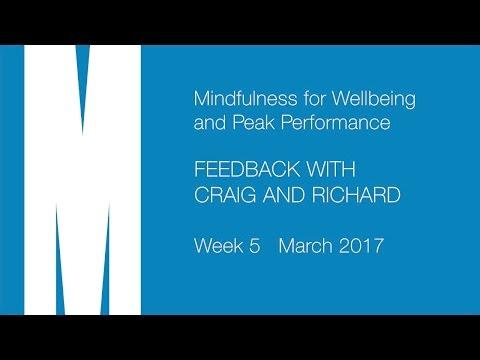 Feedback from Craig and Richard - Week 5 - Mar 2017