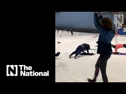 Dubai's winter wonderland freezes the fitness fanatics