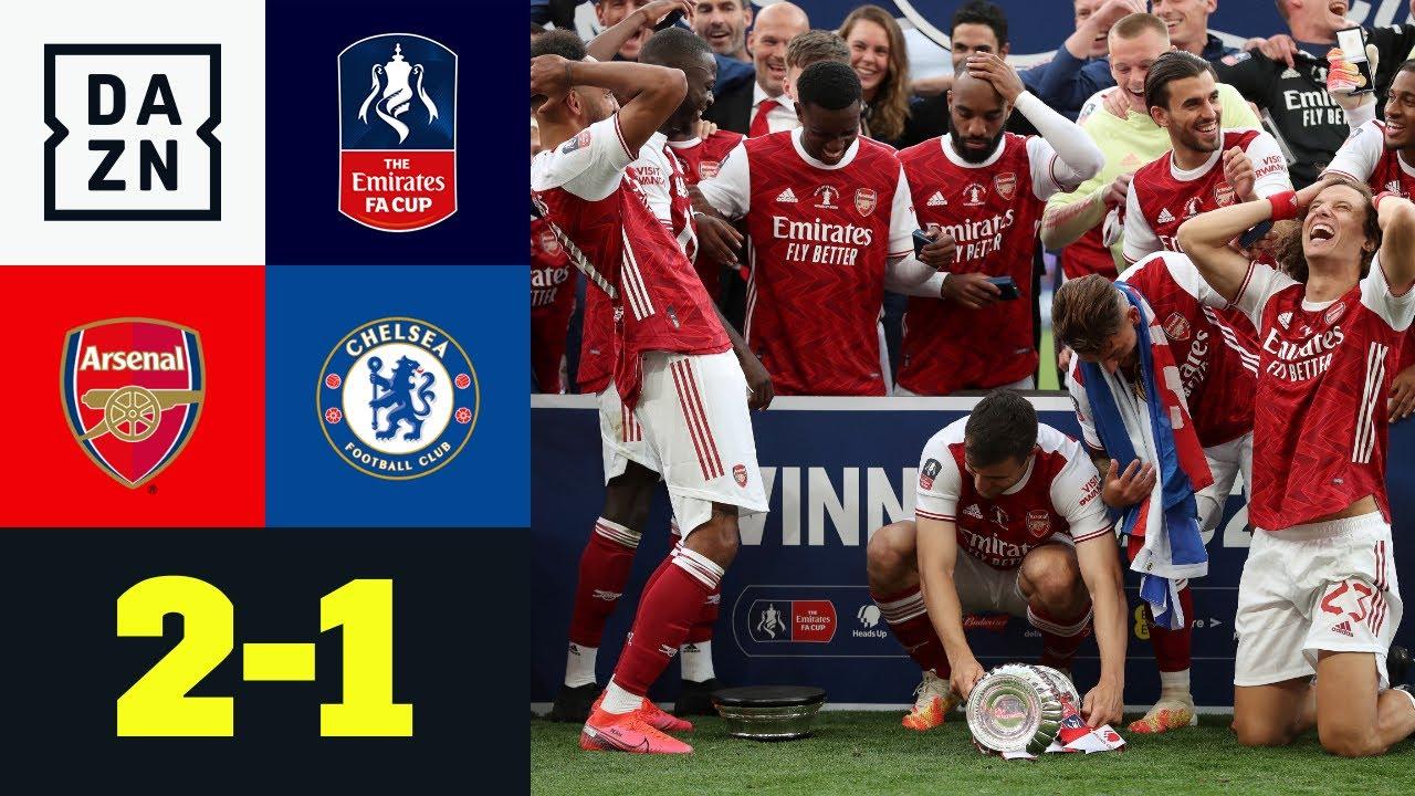 Wieder Doppelpack! Auba lupft Arsenal zum 14. FA-Cup-Triumph: Arsenal - Chelsea 2:1 | FA Cup | DAZN