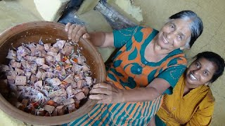 Raw Jackfruit Salad prepared in my Village by Mom and Daughter ❤ Village Life